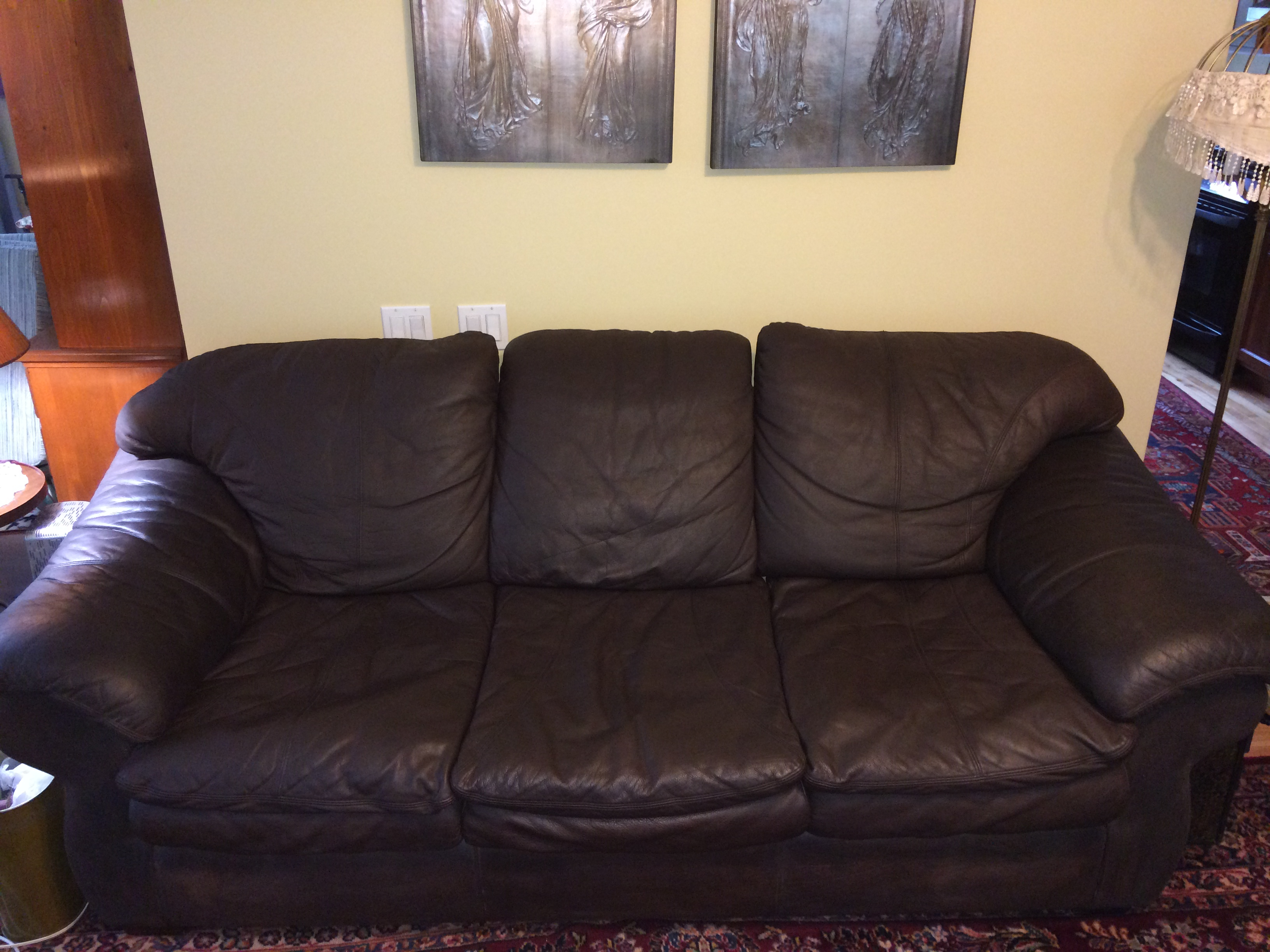 Before & After Leather Furniture Recovery